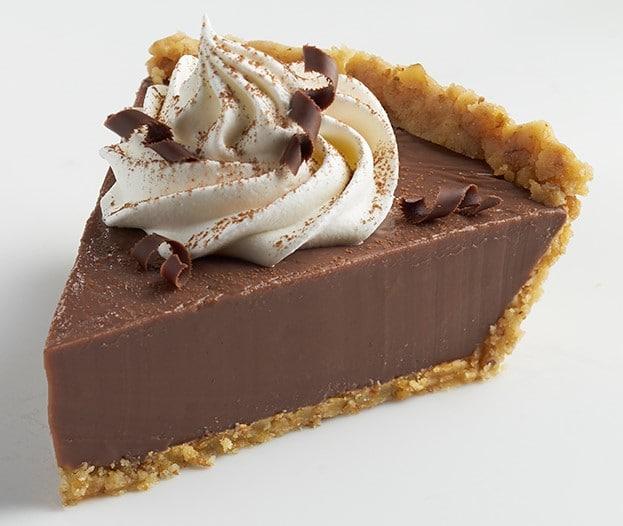 Chocolate Cream Pie with Walnut Pie Crust