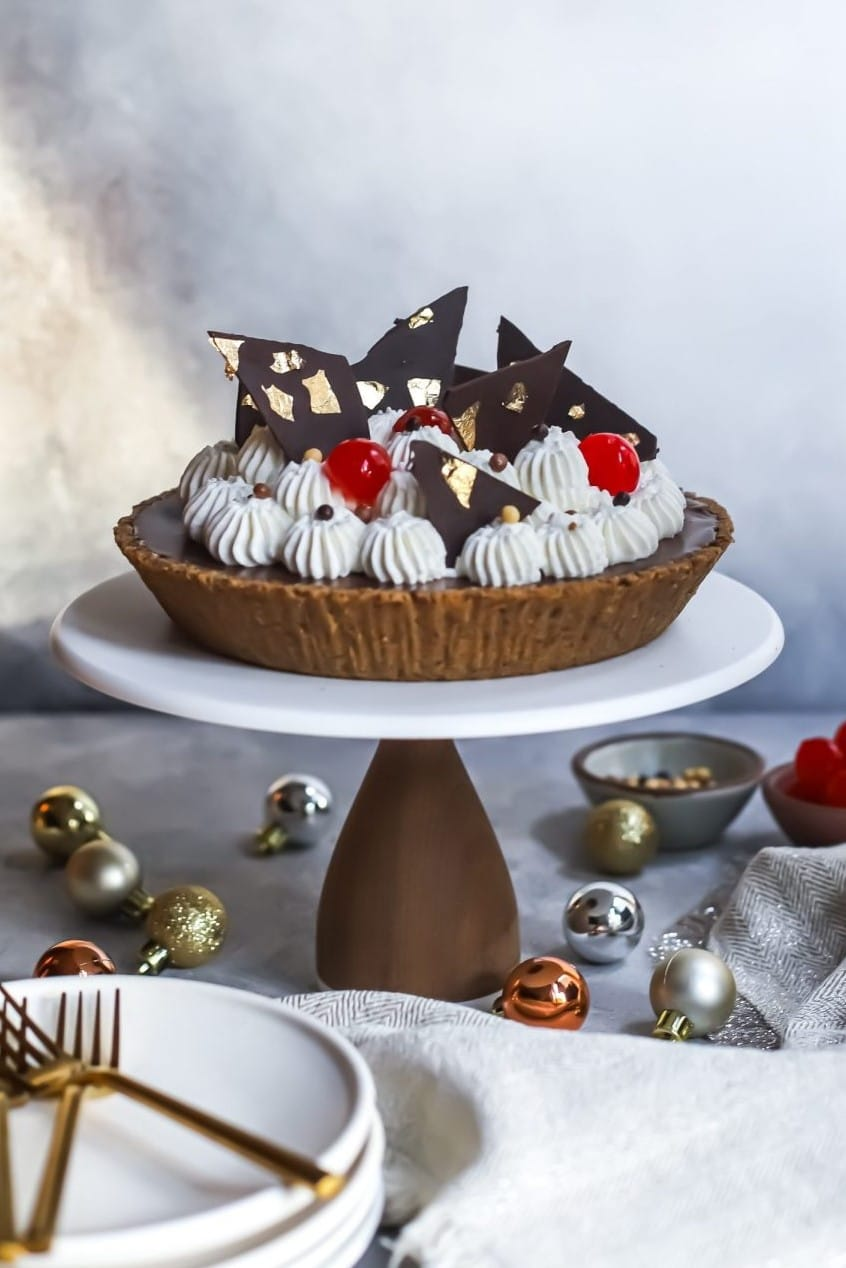 Black Forest Pie with Pecan Crust