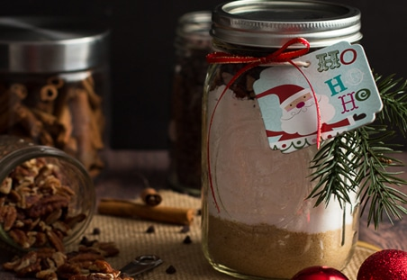 Chocolate Chip Pecan Banana Bread Gift Jars