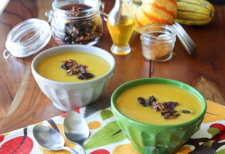 Butternut Squash Soup with Maple Spiced Walnuts