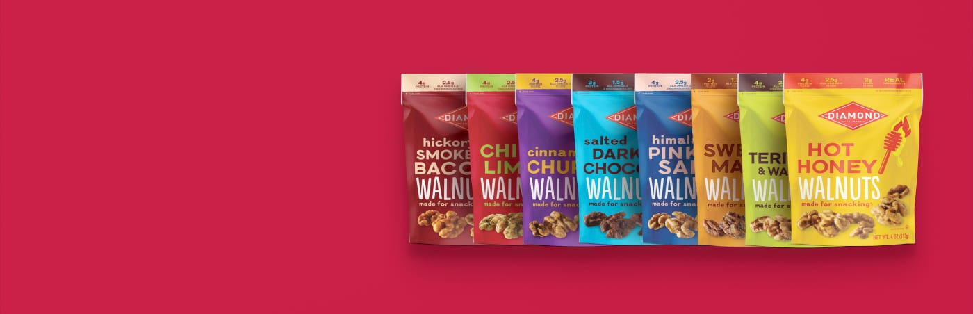 Diamond snack walnut packages